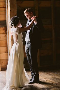Adorable first dance moment from this wedding in the Catskills captured by   UNIQUE LAPIN Photography