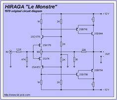 JEAN HIRAGA - Le Monstre Amplifier PCB