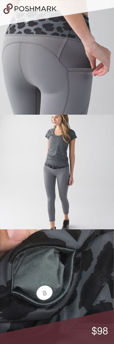 All the Right Places Excellent condition! All the right places - slate! lululemon athletica Pants Leggings