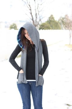 I also really like this hooded scarf with pockets! $19 This actually looks kinda cute. Has potential ;)