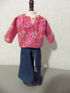 america doll shirt & pants by CarolinaDollClothes on Etsy, $8.00