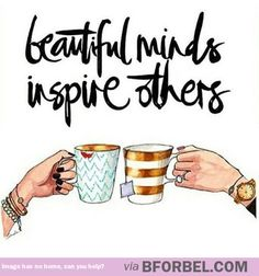Let's inspire and be inspired