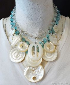 go to Kay Adams! MADE FROM *YOUR* PIECES. Mother Of Pearl Family Treasure Necklace. Anthill Antiques, Jewelry and Chandelier Heaven