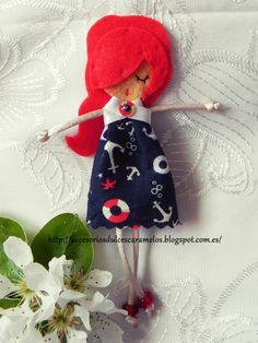 Quecas de Fieltro / Dolls felt mod 2 http://accesoriosdulcescaramelos.blogspot.com.es/search/label/Mu%C3%B1ecas%20%28Quecas%20de%20Fieltro%29