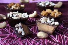 Valentines Chewy Chocolate Squares and Chocolate Maca Cups