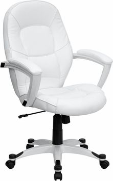co friendly white leather mid back executive office chair 114 bedroomalluring members mark leather executive chair
