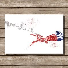 movie poster art print Spiderman comic book art fan art wall art home decor kids wall art This print was created using archival pigment inks, and