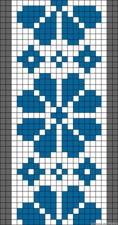 Easy Cross Stitch Patterns, Cross Stitch Borders, Simple Cross Stitch, Cross Stitch Designs, Loom Bracelet Patterns, Bead Loom Patterns, Weaving Patterns, Knitting Charts, Knitting Stitches