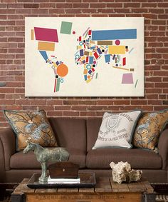 Look at this zulilyfind michael tompsett world map hearts ii michael tompsett world map hearts ii wrapped canvas zulilyfinds signs pinterest canvases gumiabroncs Image collections