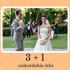 3+1 esküvői csokordobás ötlet (Fotó: Derűlátó)