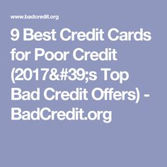 Helping small business owners credit cards for bad credit http 9 best credit cards for poor credit 2017s top bad credit offers badcredit reheart Image collections