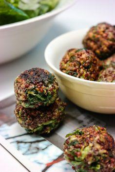 Boller til middag! Prøv Green Bonanzas quinoaboller med spinat - lette å lage, sunne og gode på smak - helt uten gluten, egg og melk!