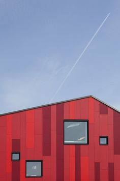 The Vibeeng School - Haslev, Denmark - 2014 by Arkitema #colours #architecture #red