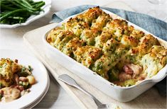 This cottage pie packed with succulent chicken thighs & crispy bacon will go down a treat at any family meal. Find more chicken recipes at Tesco Real Food.