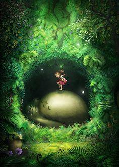 Totoro Chamber by lordeeas.deviantart.com on @DeviantArt