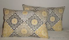 DecorativeAccentThrow  Set of Two Pillow by EllensDesigns on Etsy, $44.00