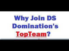 DS Domination Genesis Elite Training - Why Join TopTeam? DS Domination E...