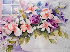 Blumenstrauß  Aquarell © by Maria Földy