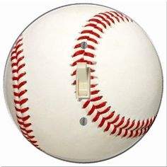 Round Baseball Light Switch Plate Cover