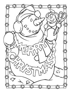 Follow the link below to download this coloring page! http://www.bendonpub.com/upload/coloring-pages/dec-snowman-2.pdf
