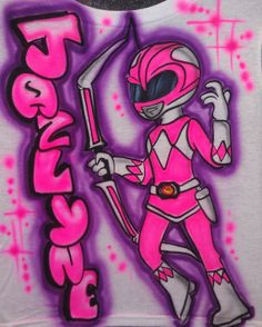 Airbrushed Tshirt  Power Ranger Sizes Youth Adult by AirbrushWorld, $17.95  - Angel (& Gabby?)