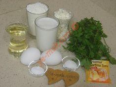 Peynirli Maydanozlu Kaşık Dökmesi İçin Gerekli Malzemeler Glass Of Milk, Food, Eten, Meals, Diet