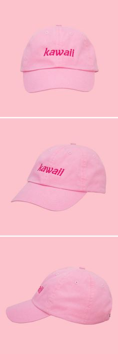 Cute baseball cap in pink! Kawaii Dad Hat, Pastel Pink Dad Hat, Softgrunge, Fairy Kei Clothing, Aesthetic Clothing, Vaporwave Hat, Vaporwave Clothing, Soft Grunge. New kawaii low profile dad hat with adjustable metal back strap. Unisex. One size fits most. Hat is custom made in New York. 100% Cotton Twill. FREE shipping for US customers. Perfect for kawaii Harajuku Japanese look. #ad #kawaii #pastel #pink #cute #harajuku #japanesefashion