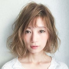 Do you know secret bang? Recommended Bob Hairstyle for Face Girls-Peachy-Livedoor News - Hair Beauty World Permed Hairstyles, Girl Hairstyles, Short Perm, Medium Hair Styles, Short Hair Styles, Hair Arrange, Hair Images, Face Hair, Hair Designs