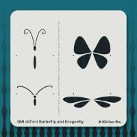 4074-8 Butterfly and Dragonfly
