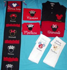 DCL Family 4 pack shirts, fish extender, and 2 pillowcases for Disney Cruise Line