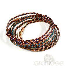 """Questi bracciali mi ricordano il primo libro che ho letto sulla tecnica wire """"Bead & Wire Art Jewelry"""" di J.Marsha Michler la recensione e il #tutorial li trovate nel mio blog:  http://www.archideeonline.com/bracciale-tecnica-wire/ . . . #archidee #becreative #bepositive #bracelet #bracciale #braccialetto #wirewrapping #wirewrapped #wirewrapjewelry #fashionbracelet #stackbracelets #stackbracelet #braid #youtube #blog #blogger #instablog #blogging #jewelryblogger #jewelryblog #instajewelry…"""