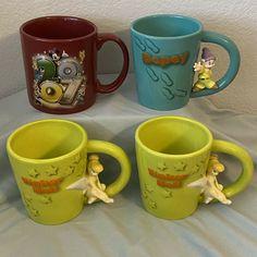 Figural Disney Parks Authentic Coffee Mug Cups Lot of 4 Disney Coffee Mugs, Disney Mugs, Disney Gift, Fun Cup, I Love Coffee, Lilo And Stitch, Disneyland Paris, Disney Parks, My Ebay