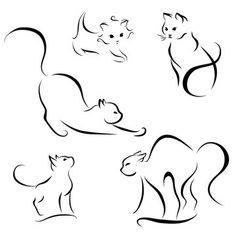 Foto stock e immagini, vettoriali e illustrazioni esenti da royalty per Cat | Adobe Stock Black Cat Tattoos, Kitty Tattoos, Body Art Tattoos, Small Tattoos, Ankle Tattoos, Tattoo Gato, Hp Tattoo, Tiny Tattoo, Family First Tattoo