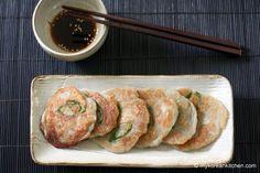 Korean Potato Pancakes (Gamja Jeon) with soy sauce