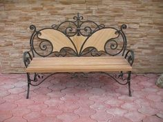Iron Furniture, Steel Furniture, Home Decor Furniture, Industrial Furniture, Wrought Iron Bench, Wrought Iron Decor, Blacksmith Projects, Iron Table, Iron Art