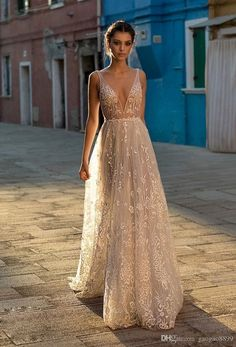Gali Karten 2018 A Line Boho Wedding Dresses Bridal Gowns Sexy Bohemia Deep V Neck Lace Appliqued Ba Affordable Wedding Dresses, Black Wedding Dresses, Princess Wedding Dresses, Elegant Wedding Dress, Bridal Dresses, Wedding Gowns, Black Weddings, Bridesmaid Dresses, Wedding Black