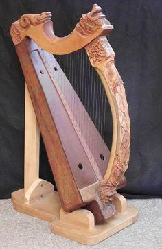 Brian Boru harp replica, by Herb David