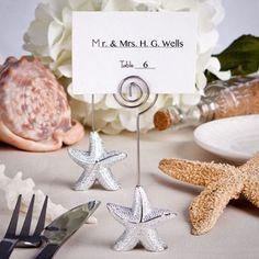 Shimmering Starfish Design Place Card Holder