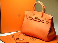 orange hermes birkin