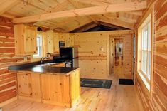 12 Stupendous Log Cabin Interior Design You Will Never Forge — Skookum Archery Modular Log Cabin, Tiny Log Cabins, Small Log Cabin, Cabins And Cottages, Cabin Plans With Loft, Log Cabin Floor Plans, Small House Plans, Tiny House Big Living, Tiny House Cabin