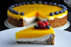 Mango Cake with Ricotta Filling