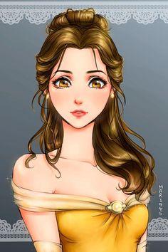 princesas da disney versão mangá bela