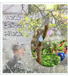 Simple Summer Fun! Water Balloon Piñata - a simple way to cool down this summer.