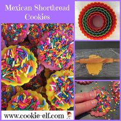 Easy Mexican Shortbread Cookies: ingredients, directions, and special baking tips from The Elf to make this simple variation of a traditional Mexican cookie recipe, also known as polvorones. Mexican Food Recipes, Cookie Recipes, Ethnic Recipes, Pinterest Dessert Recipes, Mexican Cookies, Cookie Images, Thats The Way, Shortbread Cookies, Baking Tips