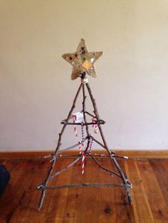 """Natural Christmas Tree created with sticks - from Splitt's Family Day Care  ("""",)"""