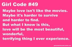 What are the girl code rules