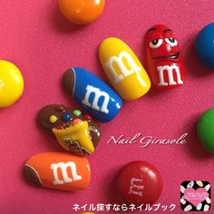 Wow check out this exciting photo - what a creative project Crazy Nail Art, Crazy Nails, Cute Nail Art, Dope Nails, Cute Acrylic Nail Designs, Best Acrylic Nails, Nail Art Designs, Nail Art Cupcake, Food Nail Art