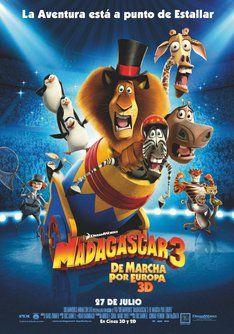 """Tráiler de """"Madagascar 3: de marcha por Europa"""". Información, sinópsis y ficha técnica de la película #film #movies"""