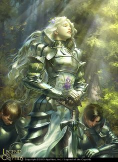 Incredible Concept Art by Tatiana Kirgetova featuring a female knight and her loyal followers.