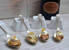 Recette champagne - Cuillères de thon mariné à l'orange et son espuma